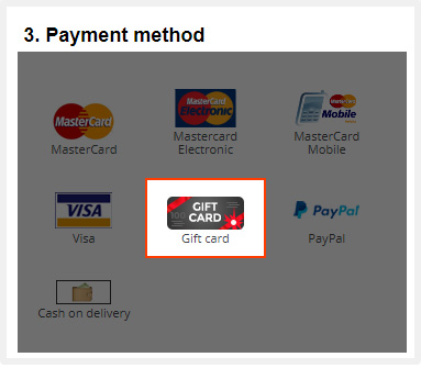 Choose a payment method.