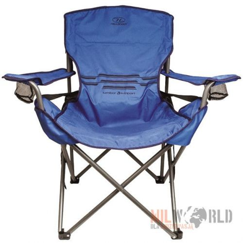 Highlander Tourist Folding Chair Lumbar Blue