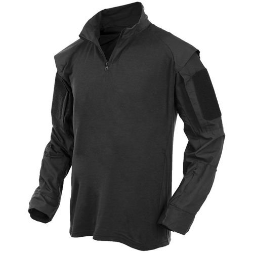 MFH US Tactical Shirt with Long Sleeve Black
