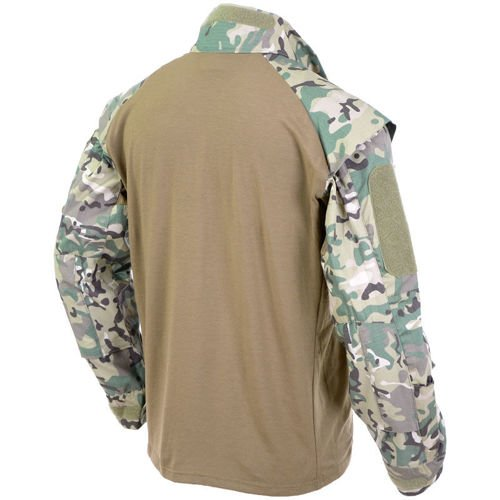 MFH US Tactical Shirt with Long Sleeve Operation Camo