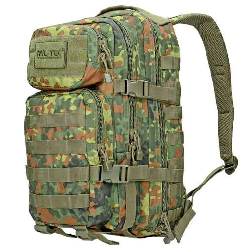 Mil-Tec MOLLE Tactical Backpack US Assault 20L Flecktarn