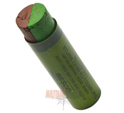 Mil-Tec camouflage paint stick 2 colors green and brown