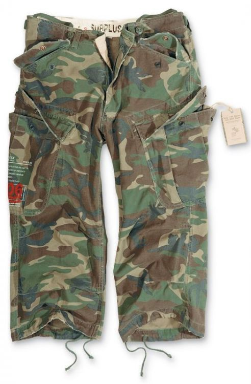 Surplus Shorts 3/4 M65 Engineer Woodland