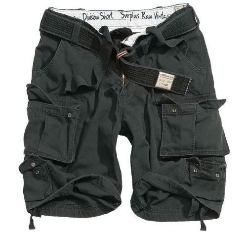 Surplus Shorts Division Black
